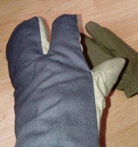 Новые теплые рабочие рукавицы