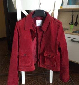 Кожанная замшевая куртка Mango