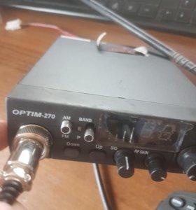 Рация автомобильная Optim 270 с антенной