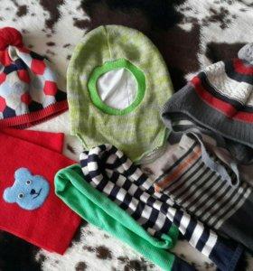Шапки шарфы 3-5 лет