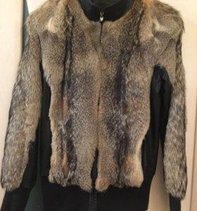 Куртка из меха енота