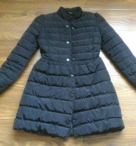 Куртка с юбкой пальто пуховик черный
