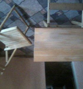 Стол и стул разборный