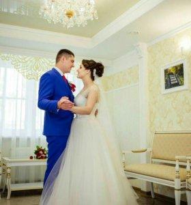 Шикарное свадебное платья