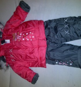 Комбинезон зимний куртка+брюки 92-98см НОВЫЙ дев.