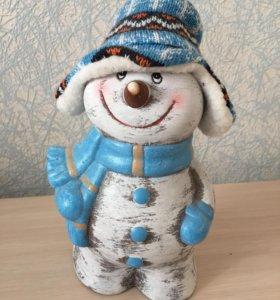 Копилка Снеговик.
