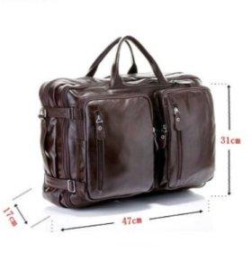 Кожаная сумка - трансформер 🛠 рюкзак