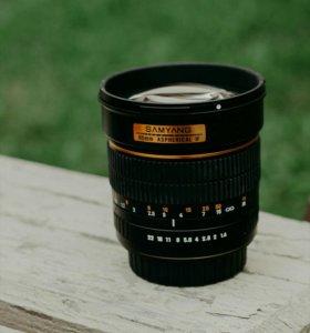 Объектив для Canon Samyang 85mm f/1.4
