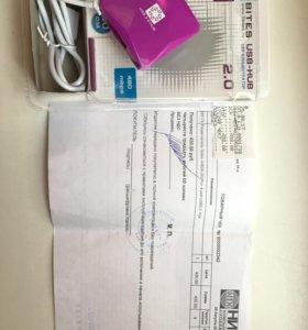 USB концентратор (разветлитель, разветвитель)новый