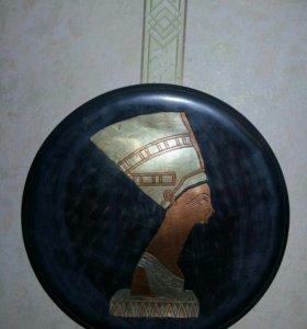 "Панно декоративное ""Нефертити"".висело на стене"
