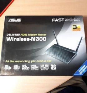 ASUS DSL-N12U роутер + модем