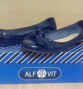 Новые туфли кожаные для девочки 38 размер
