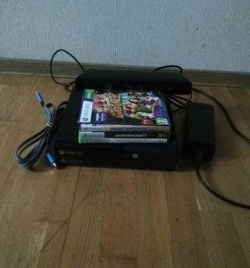 Xbox 360 E + 3 игры + Kinect