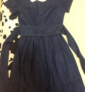 Платье джинсовое 40 размер