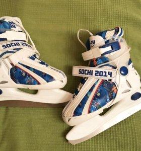 Коньки Sochi 2014 (детские) размер 29-33