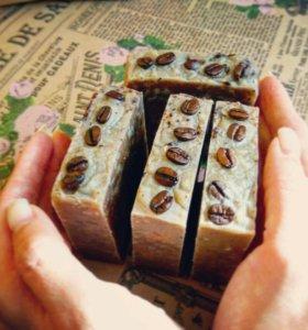 Натуральное кофейное мыло- скраб