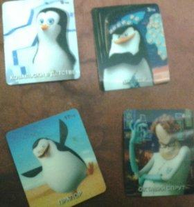 Карточки пингвинов