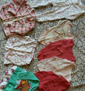 Пакет вещей на девочку 68-74см