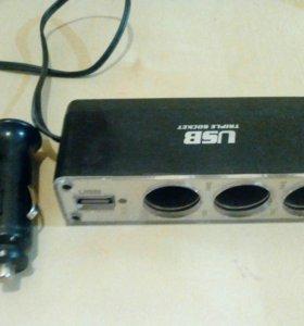 USB прикуриватель и зарядка