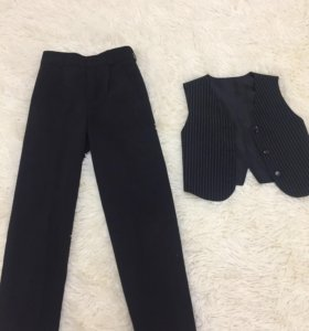 Штаны и жилетка для школы