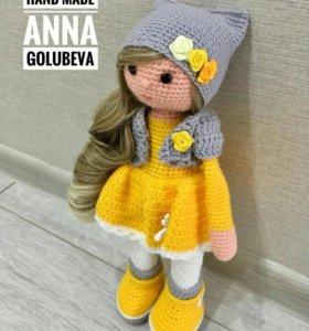 Вязаная кукла. Амигуруми