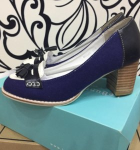 Новые Туфли лоферы на каблуке le bunny bleu