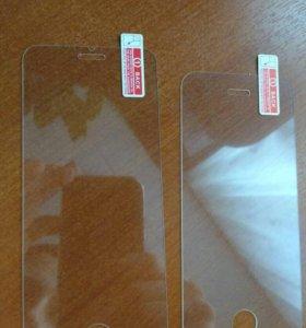 Защитное стекло на айфон 5 s 6 6plus  7