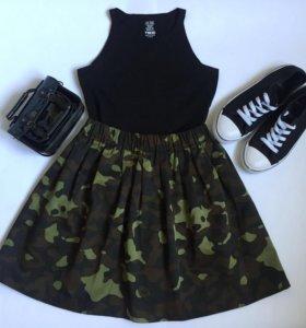 Комуфляжная юбка