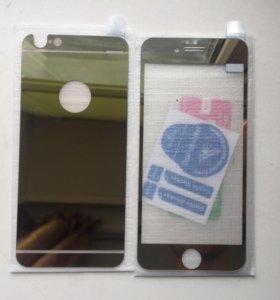 Защитное стекло iPhone 6 gold