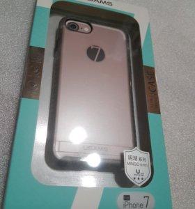 Крутой чехол для iphone 7 серый usams