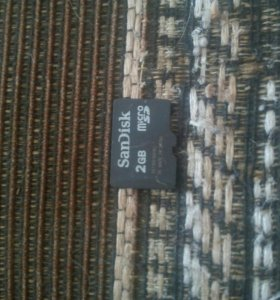 Две микро SD карты памяти по 2 гига
