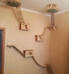Настенный городок для кошек