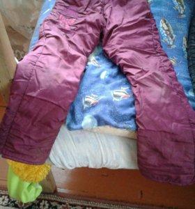 Зимние штаны для девочки 7-8 лет