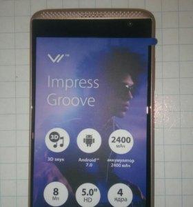 Смартфон Vertex Impress Groove новый