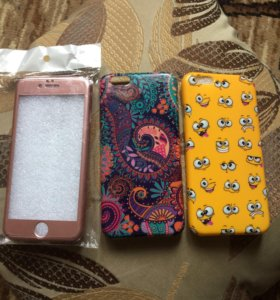 Чехол и два бампера на 6 айфон