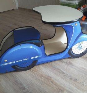 Столик-мотороллер (синий) Carobus