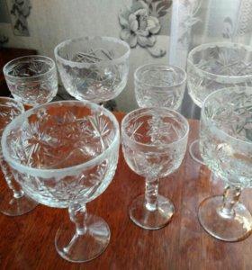 Набор хрустальных бокалов на 4 персоны