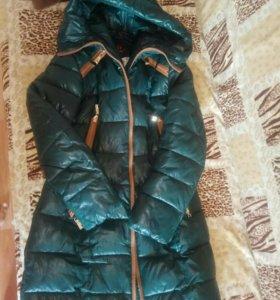 Зимнее тёплое пальто. Пуховик. Размер XL. Б/у