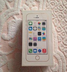 Коробка от iPhone 5 s gold 64 gb