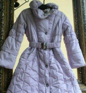 Зимний пуховик куртка пальто размер 134-140