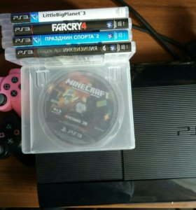 Ps3 super slim 500gb + 30 игр + move