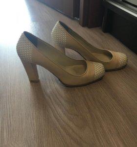 Туфли кожаные Alba модельные 38 размера