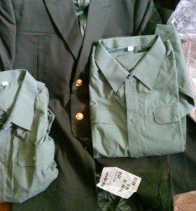 Пиджак военный +2рубашки
