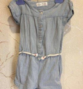 Комбинезон из тонкой джинсы Zara