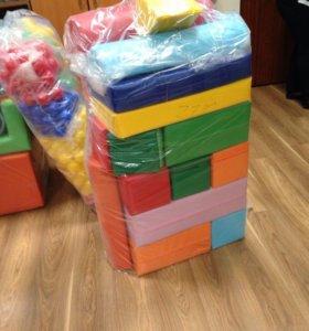 Мягкие кубики и формы 27 штук