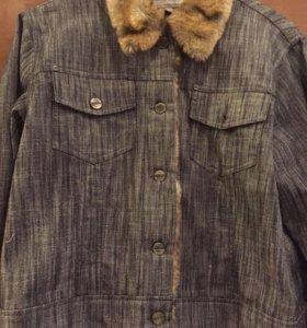 Джинсовый костюм( юбка+куртка)