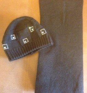 Женский шарф и шапка. Зима.