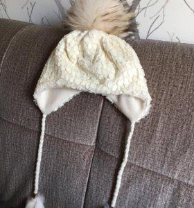 Зимняя детская шапка для девочки