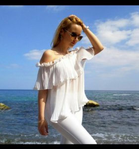 Белая летняя блузка.новая