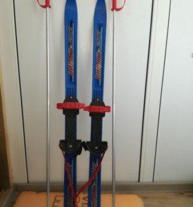 Лыжи детские длина 1 метр